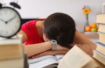 mệt mỏi vì học tập