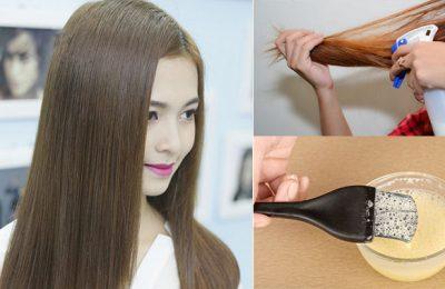 thuốc làm thẳng tóc không cần duỗi
